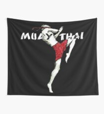 Muay Thai Flying Knee Shirt Wall Tapestry
