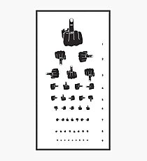 MIDDLE FINGER VISION TEST Photographic Print