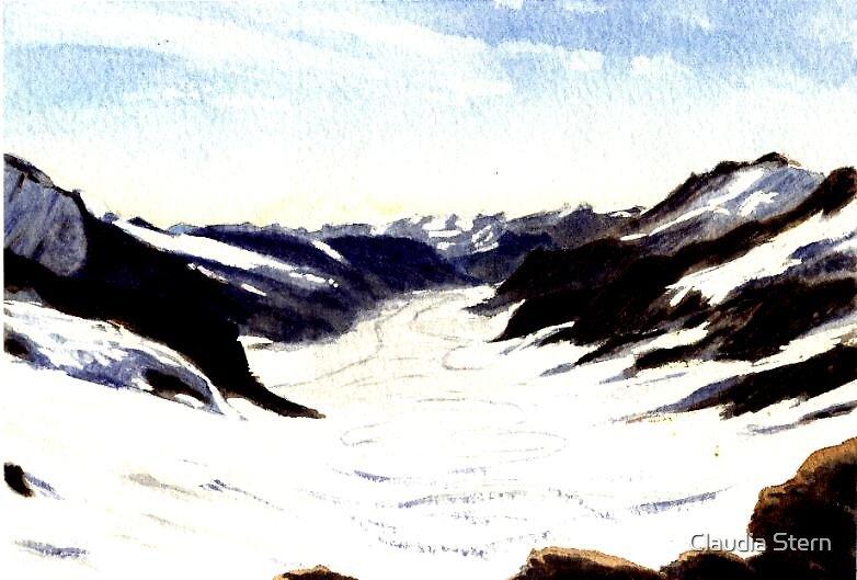 Glacier Switzerland by Claudia Stern