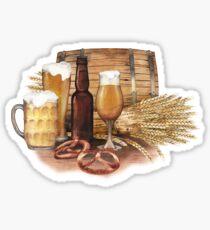 Watercolor beer design Sticker