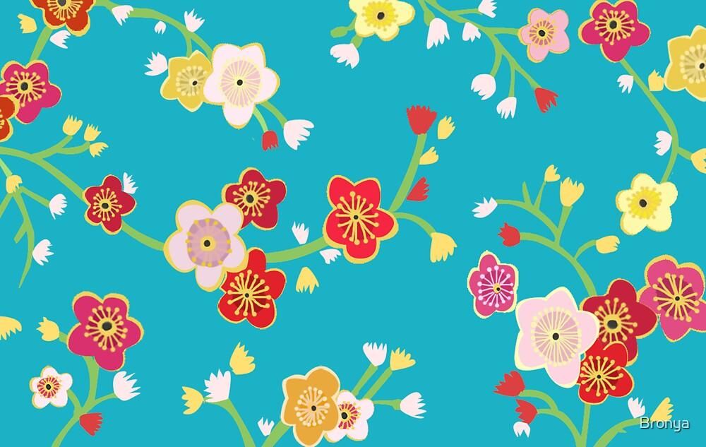 Chinese Flowers by Bronya