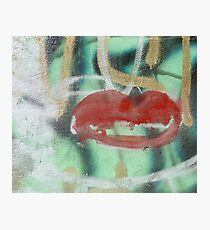 Red Kiss 2 Graffiti Photographic Print