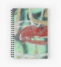 Red Kiss 2 Graffiti Spiral Notebook
