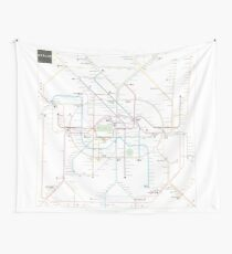 Berlin U Bahn S Bahn Map Wall Tapestry