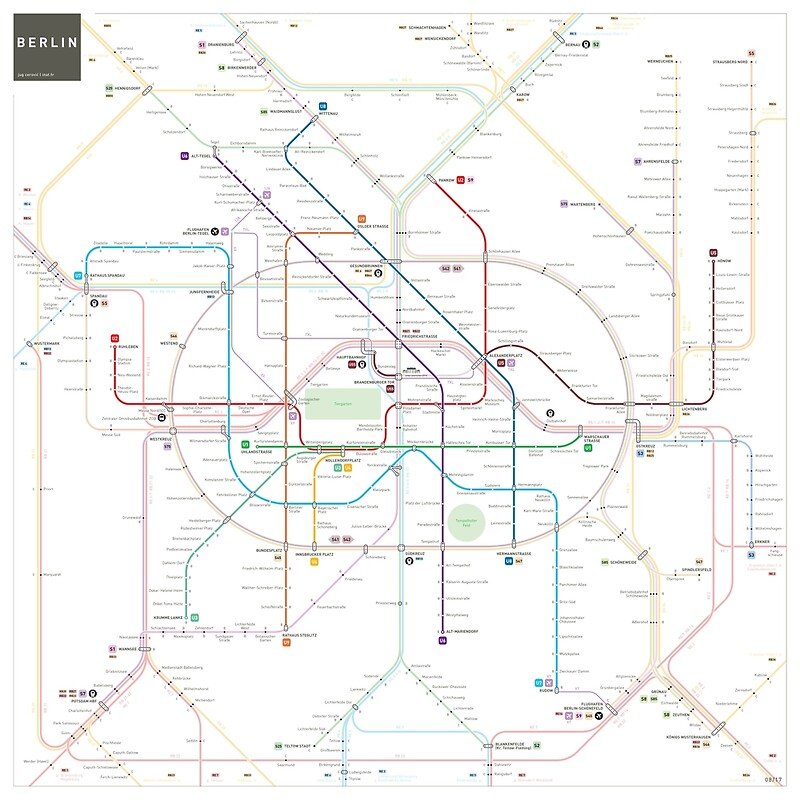 Berlin UBahn SBahn Map Posters By Jug Cerovic Redbubble - Berlin us bahn map