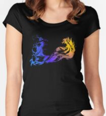 Final Fantasy X - Coloured Logo Women's Fitted Scoop T-Shirt