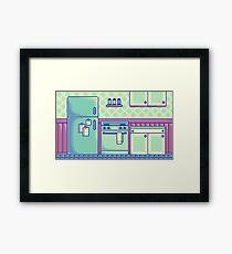 Kitchen (Pixel) Framed Print