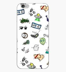 X Files Doodles iPhone Case