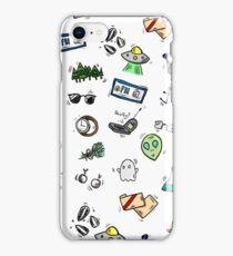 X Files Doodles iPhone Case/Skin