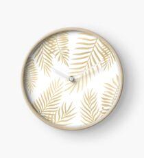 Gold Palmblätter Uhr