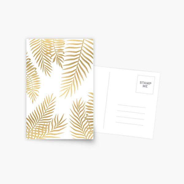 Gold palm leaves Postcard