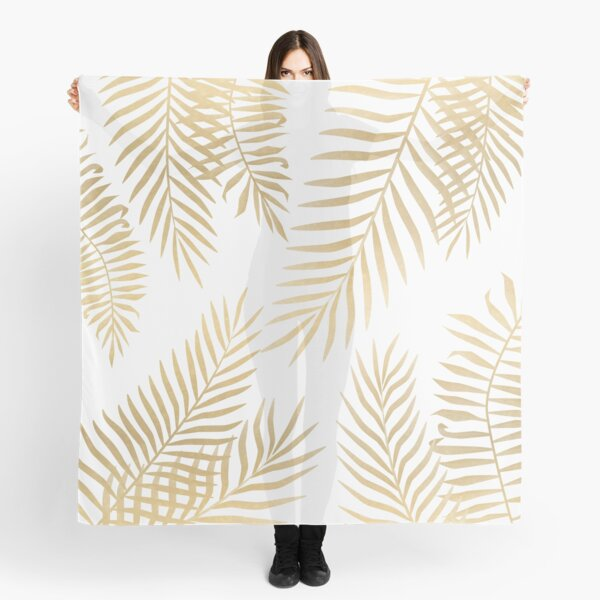 Gold palm leaves Scarf