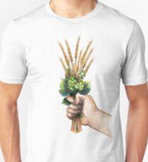 Watercolor hops and malts T-Shirt