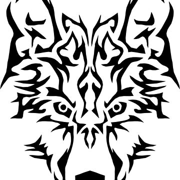 Tribal Wolf by ravendean