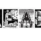Read! Retro Science Fiction Rocket Alphabet Letter design by Monkeynaut