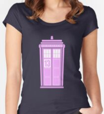 Pink Tardis Women's Fitted Scoop T-Shirt
