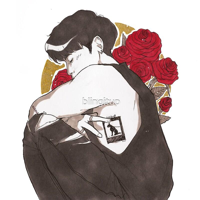 """SHINee Jonghyun - Black Dog tattoo"" Stickers by blingitup ..."