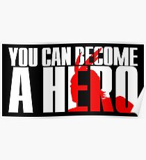 Boku No | My Hero Academia / MHA - You Can Become a Hero (White) Poster