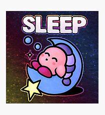 Kirby Sleep Photographic Print