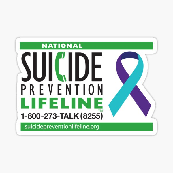 Suicide Prevention Lifeline Sticker