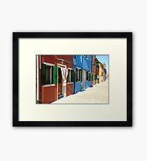 Burano Housing Framed Print