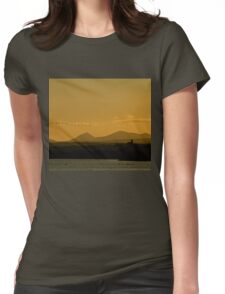 Geese over Derryveagh mountains at Twilight Womens Fitted T-Shirt