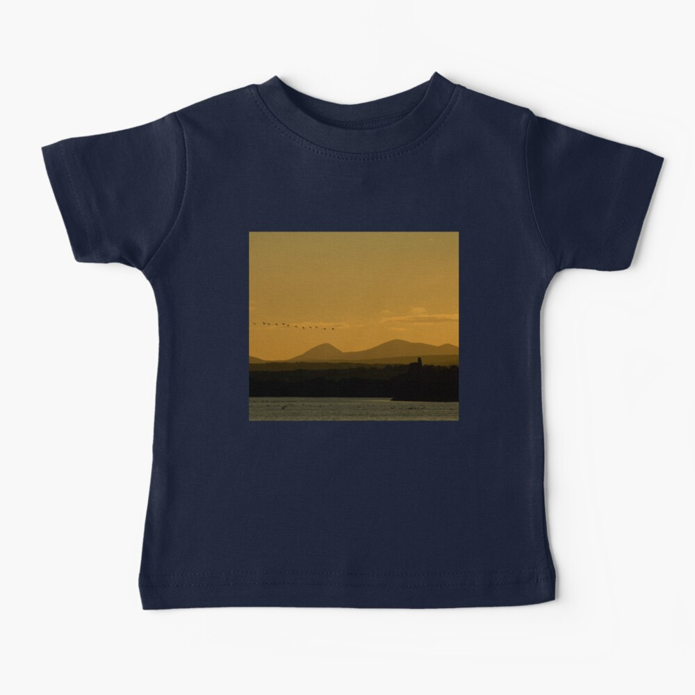 Geese over Derryveagh mountains at Twilight Baby T-Shirt