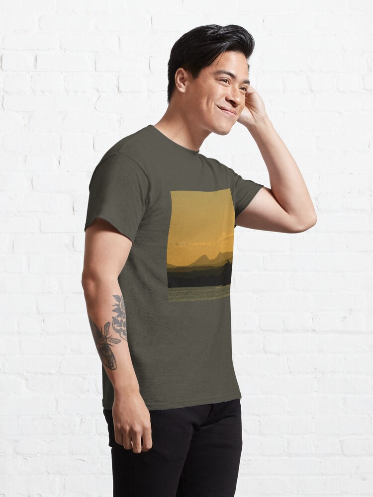 Alternate view of Geese over Derryveagh mountains at Twilight Classic T-Shirt