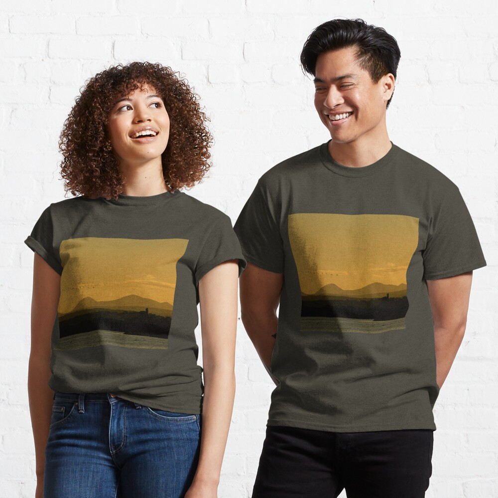 Geese over Derryveagh mountains at Twilight Classic T-Shirt