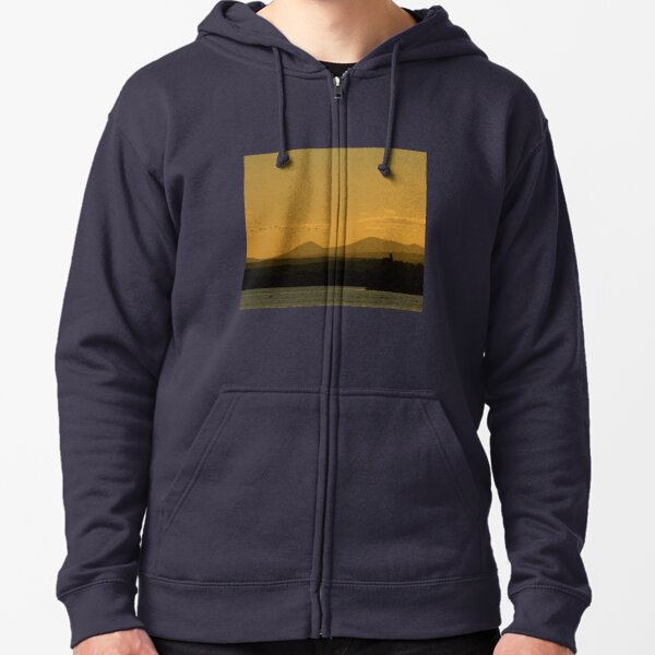 Geese over Derryveagh mountains at Twilight Zipped Hoodie