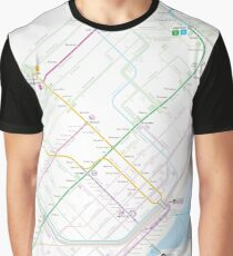 Toronto Metro and Bus map Graphic T-Shirt