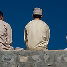 3men on a wall by marycarr