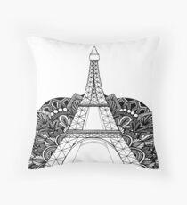 Eiffel Tower Mandala Throw Pillow