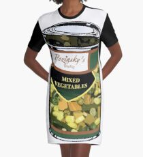 Pozinsky's Vegetables (Mixed)  Graphic T-Shirt Dress