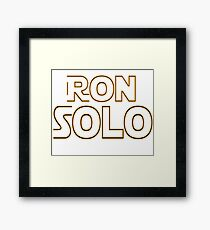 Ron Solo Framed Print