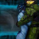 Cortana & Master Chief by Queen Geek