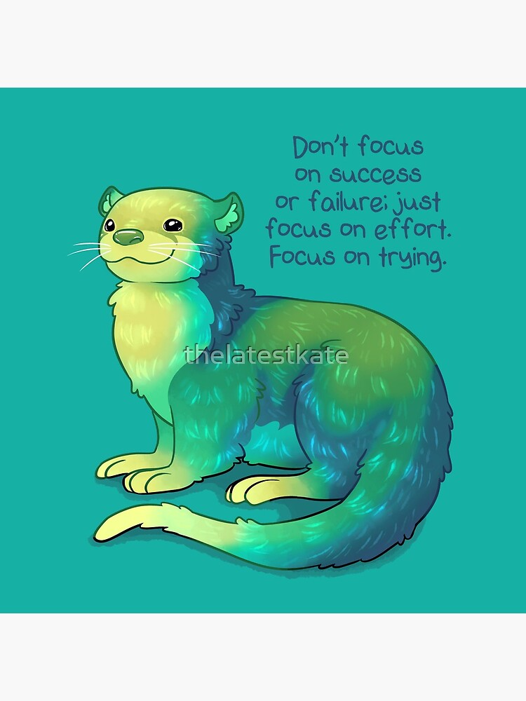 """""""Focus on Trying"""" River Otter by thelatestkate"""