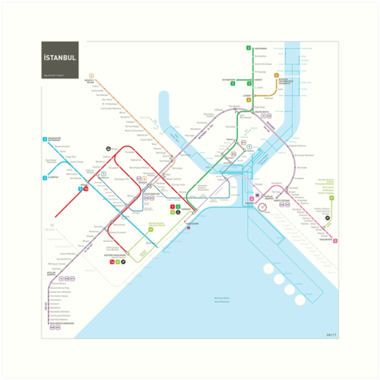 Istanbul metro map  by Jug Cerovic