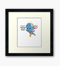 Donald Trump Tweets too much Framed Print