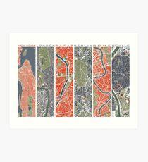 Lámina artística Six Cities map