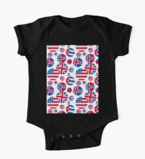 RED WHITE AND BLUE FLAGS Kids Clothes
