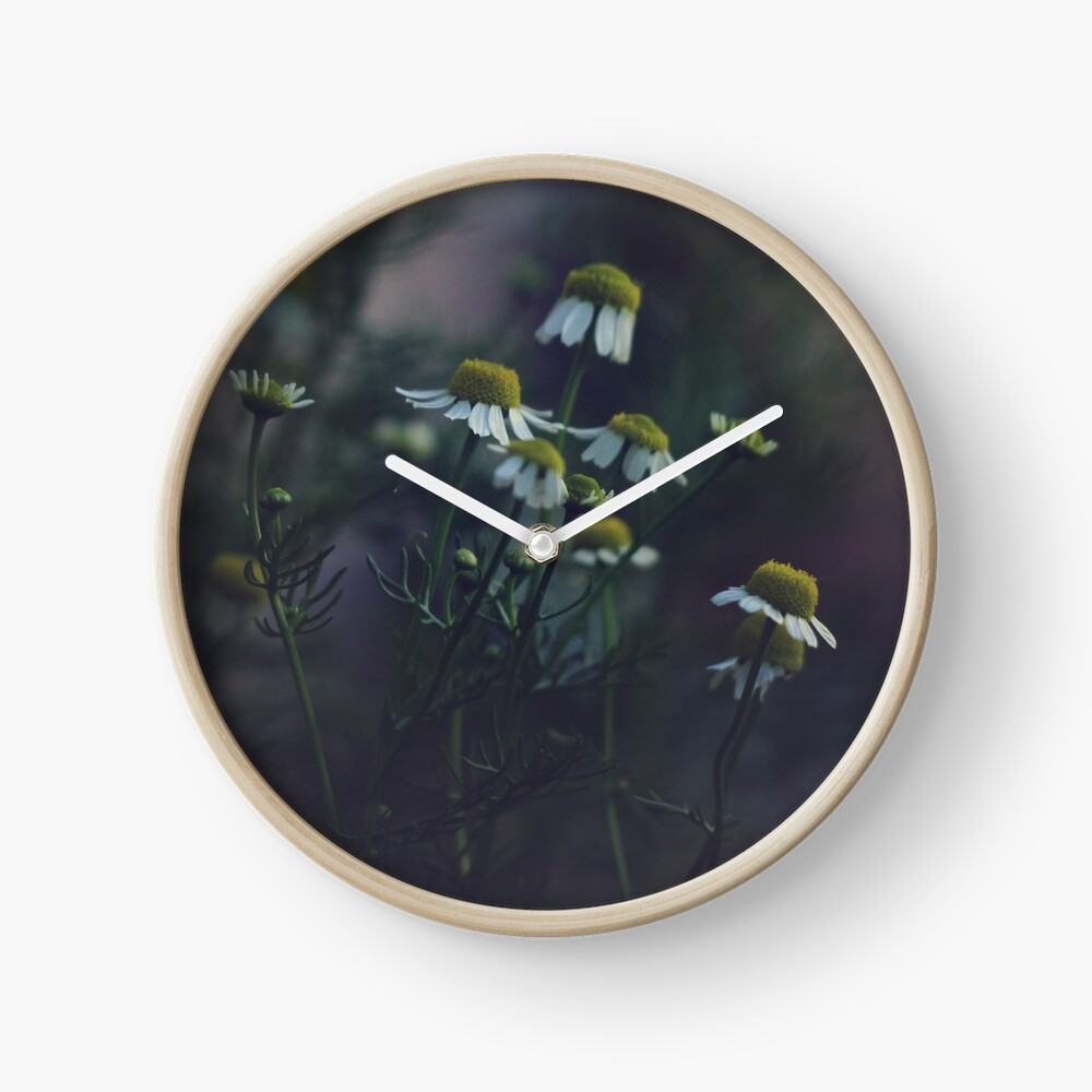 Chamomile at Dusk Clock