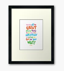 Oh! The Places You'll Go Framed Print