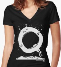 The Quoxxle (White Version) Women's Fitted V-Neck T-Shirt
