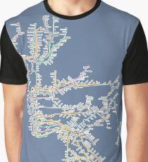 New York City Subway System Graphic T-Shirt