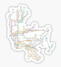 New York City Subway System Sticker