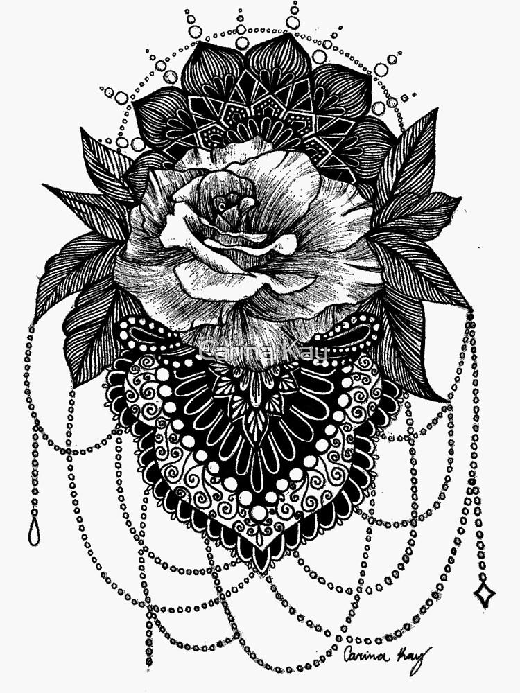 Rosen-Mandala von dare2draw