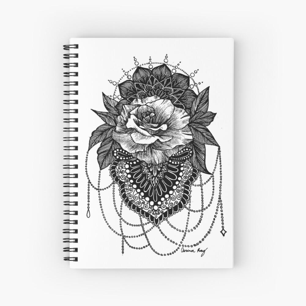 Rosen-Mandala Spiralblock