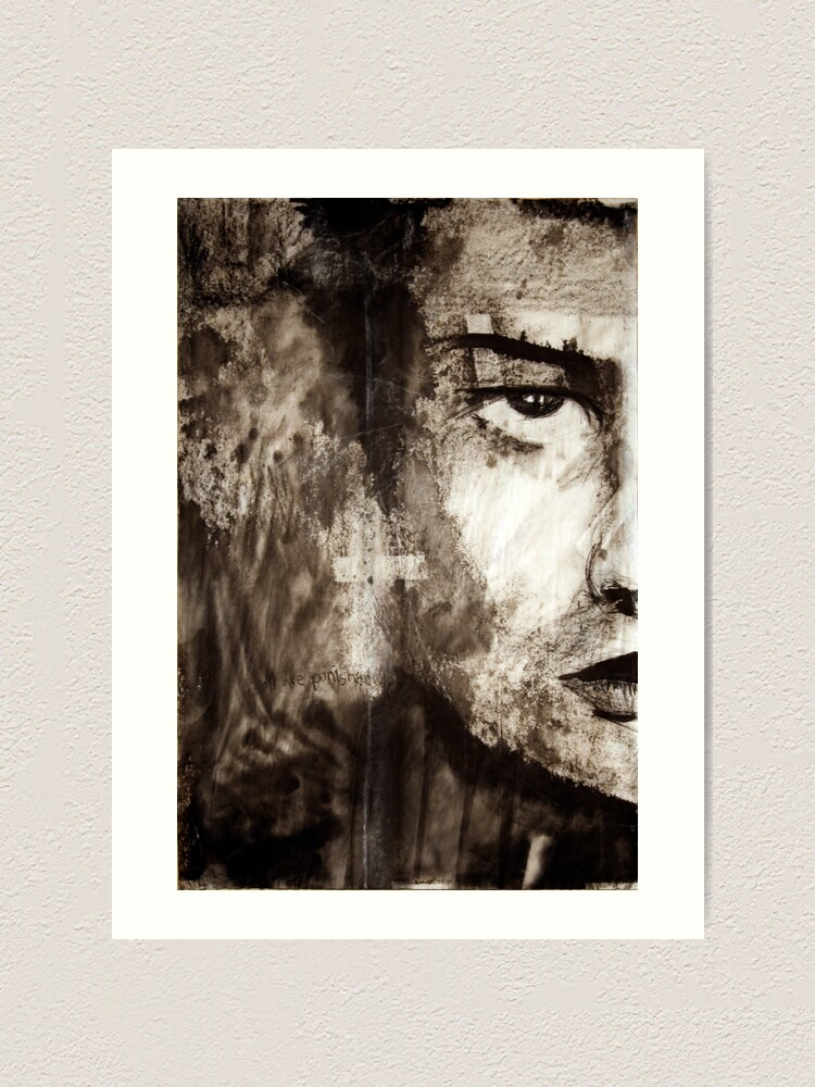 Alternate view of portrait of Simon John Ritchie Art Print