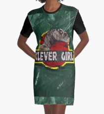 Clever Girl Graphic T-Shirt Dress